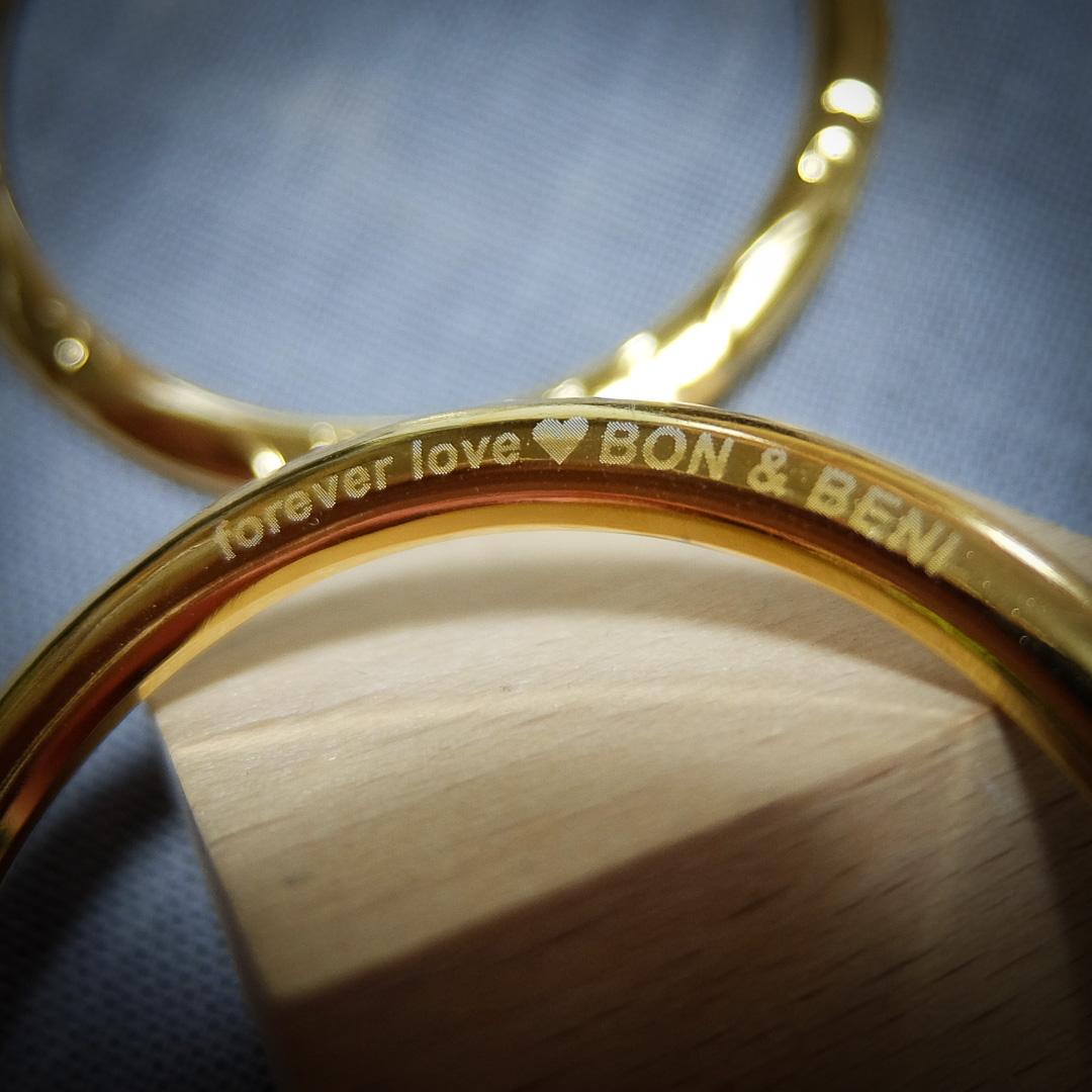 スリングのリングへの刻印